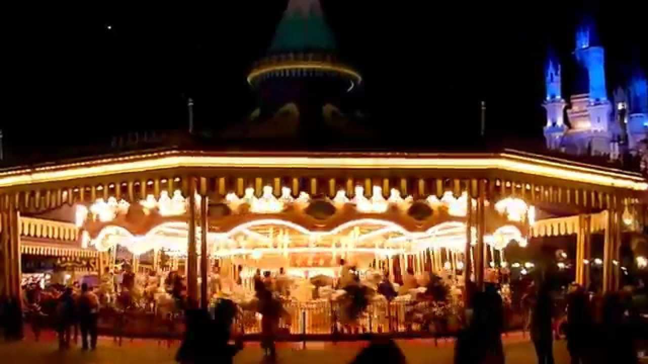 Tokyo Disneyland Castle Carrousel At Night Youtube