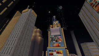 Minecraft Times Square New Year's Eve 2015 (Countdown + Ball Drop)