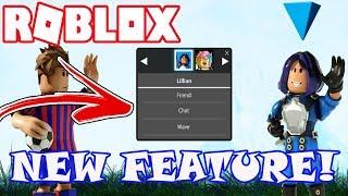 nuova funzione sociale in Roblox! -Menu di scelta rapida avatar per migliorare la socializzazione - amico, Chat e Wave