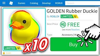 x10 GOLDEN RUBBER DUCKIE WINNERS... (ROBLOX ROBUX GIVEAWAY)