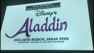 EXCLUSIVE: Aladdin (2019) – Will Smith/Alan Menken Music Sneak Peek!