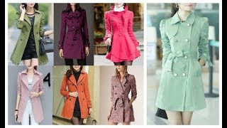 Latest Fashion Winter Trench Coat\Jacket Designs For Girls 2018-19