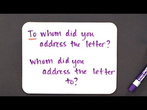 Can You End a Sentence w/ a Preposition? | Grammar Lessons