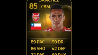 FIFA 15 IF SANCHEZ 85 60 FPS Player Review & In Game Stats Ultimate Team