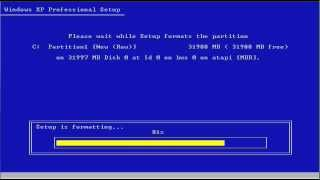 FORMAT C: - How to format a Windows XP PC hard drive