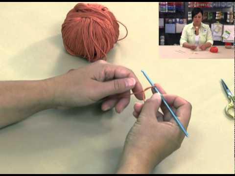 Dmc crochet partie1 maille en l 39 air youtube - Crochet maille en l air ...