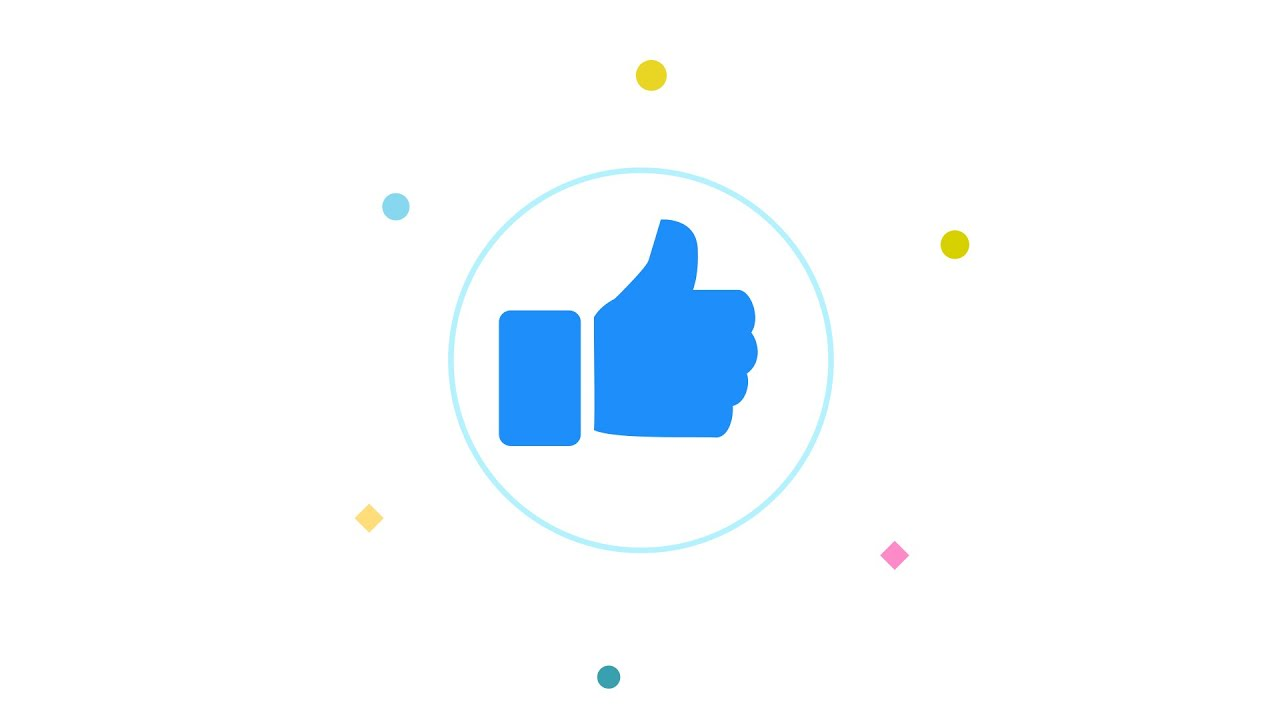 Advanced Motion Graphics Animation - Facebook Thumbs Up