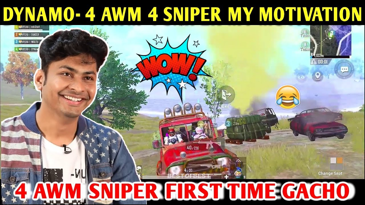 DYNAMO - 4 AWM 4 SNIPER MY MOTIVATION | PUBG MOBILE | BEST OF BEST