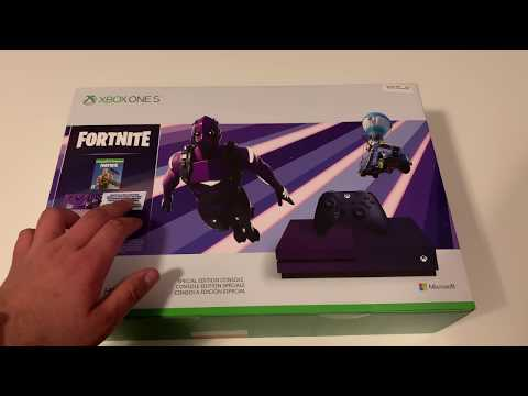 XBOX ONE S 1TB Unboxing! Fortnite Battle Royale Special Edition Console