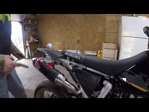 Yoshimura RS2 Carbon Fiber Install DRZ400SM! BRAPPPP!!! by