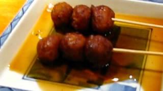 Brochette boulettes de poulet au restaurant japonais Sanki à boulogne billancourt