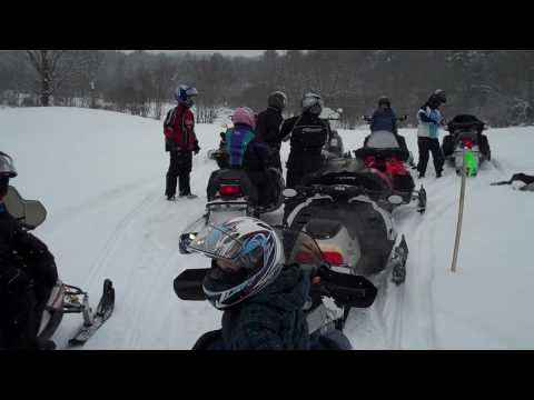 1st Snowmobile Ride of 2010 - with the Al's Snowmobile Crew - Part 1