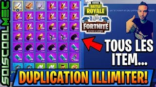 Glitch! UNLIMITED DUPLICATION! ITEM WEAPONS TRAP ETC...! FORTNITE BATTLE ROYAL SAUVER THE WORLD!