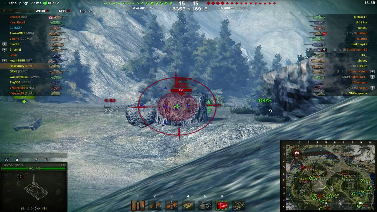 1a2c63a664 wot T49 2 kills only  HeavyDuty failed the battle plan - YouTube
