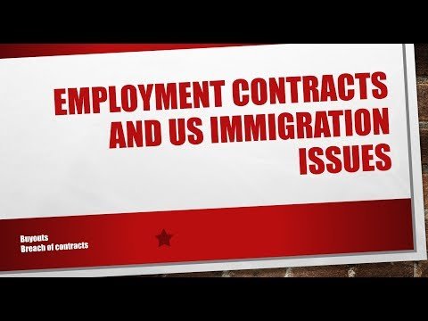 Employment Contracts and US Immigration Issues