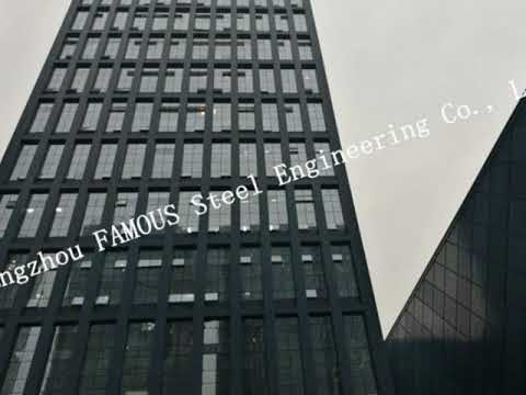 Structural Prefabricated Modular Panel Glass Facade Curtain Wall Rainscreen Systems China Supplier