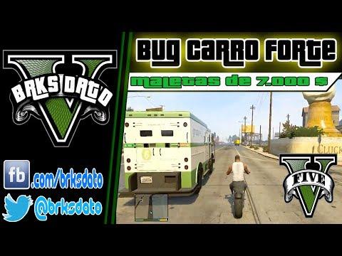 GTA V - Carro Forte BUG - Maletas de 7 MIL por vez .....