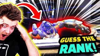 Typical Overwatch TANK Player! | Overwatch Funny GUESS THE RANK!