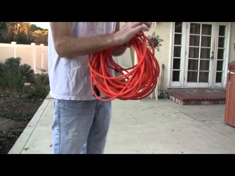 How to properly roll audio cables,extension cords,etc (over & under method) no twists or tangles!