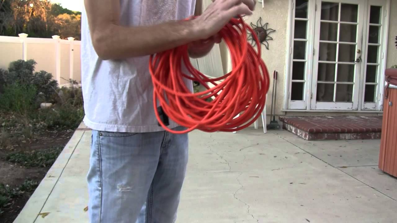 How To Properly Roll Audio Cables Extension Cords Etc Over Under Method No Twists Or Tangles You