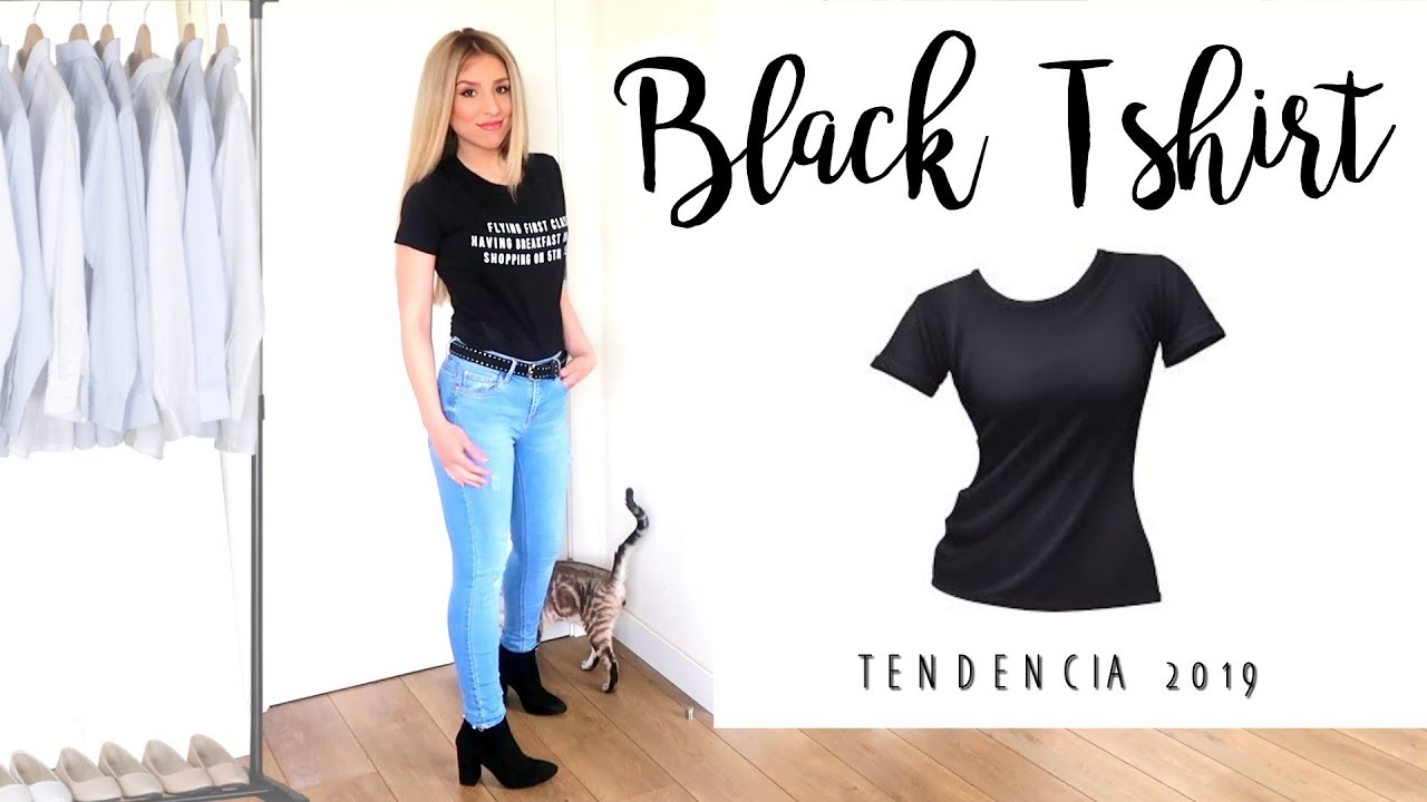 544058be64 Como COMBINAR una CAMISETA NEGRA BASICA  MIL IDeAS de OUTFITS - YouTube