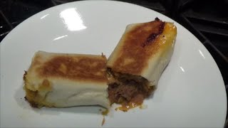 Pan-Fried Dinner Burritos