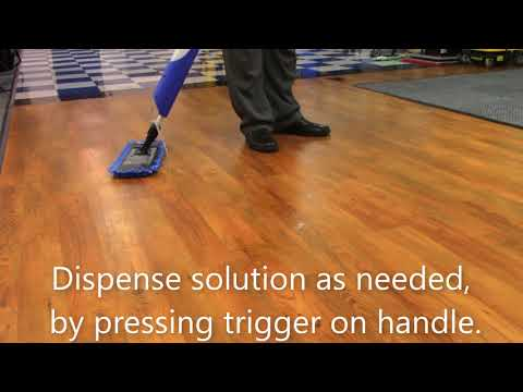 How to use a Bucketless Mop on LVP Flooring