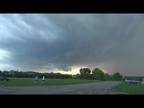 Rare Tornadic Supercell in New York State - May 31 2017