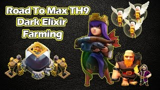 Town Hall 9 Super Queen Dark Elixir Farming - Road to Max Heroes