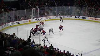 Lukas Vejdemo of the Laval Rocket scores to seal the win vs. the Utica Comets 3/9/19
