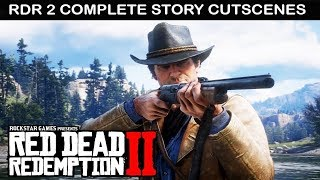 RED DEAD REDEMPTION 2 All Cutscenes MOVIE with All ENDINGS & Characters Conversations (PS4 PRO)