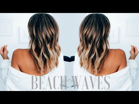 How to Create Beachy Waves on Medium Length Hair | Ashley Bloomfield