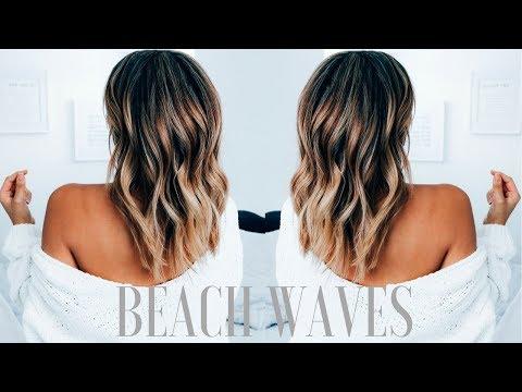 How to Create Beachy Waves on Medium Length Hair | Ashley Bloomfield thumbnail