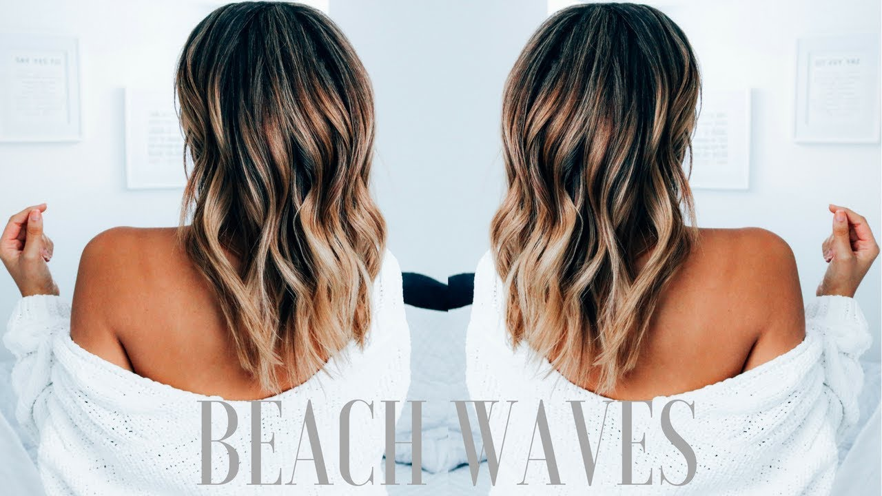How To Create Beachy Waves On Medium Length Hair Ashley Bloomfield