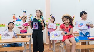 Kids Go To School | Chuns And Friends Game With Hat Hide The Teacher Out