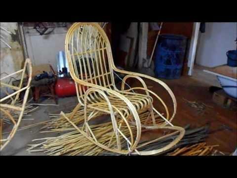 Качалка из лозы кресло качалка своими руками