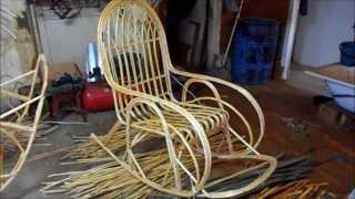 как сделать кресло качалку из лозы своими руками