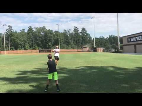 Grayson Stafford QB work with Brad Johnson 7/19/17