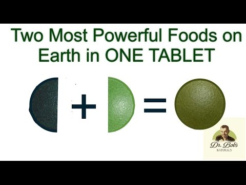 Spirulina & Chlorella: Most Powerful Foods Together - 50/50 Tabs