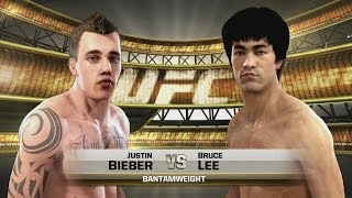Justin Bieber vs Bruce Lee UFC EA SPORTS Celebrity Death Match MMA