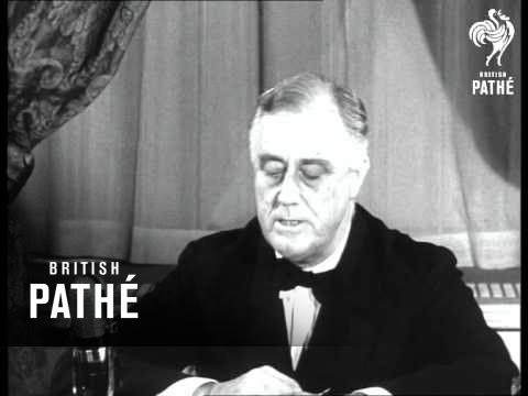 Roosevelt Speaking About Cancer Of Nazis And Aid To Britain (1940)