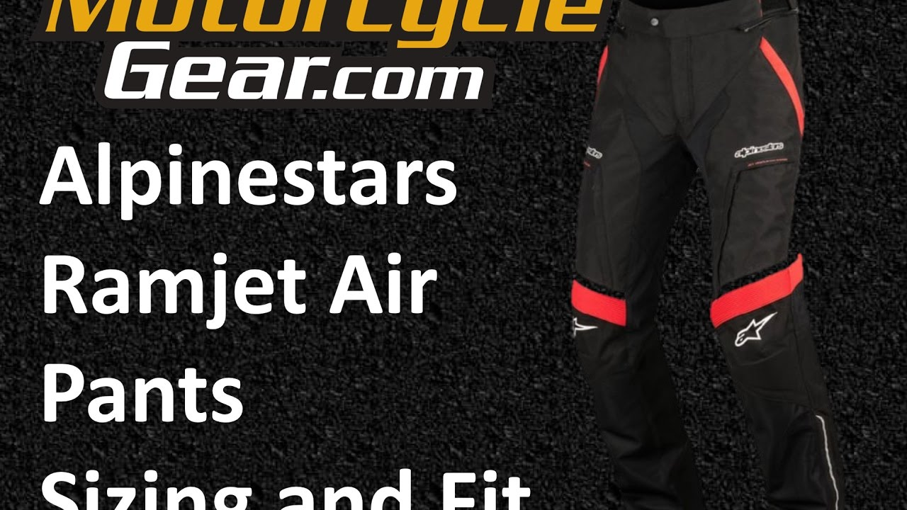 Alpinestars Ramjet Air Pants Sizing And Fit Guide