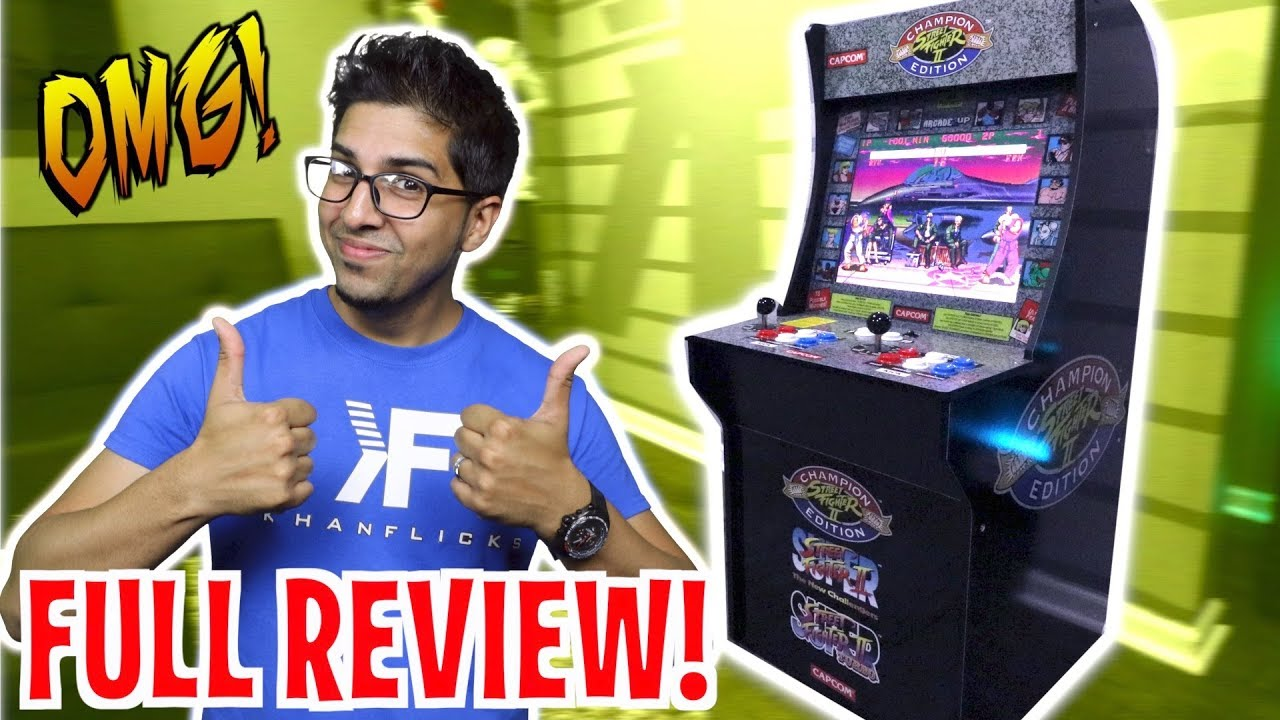 Unboxing Lets Play Arcade1up 3 4 Scale Street Fighter 2