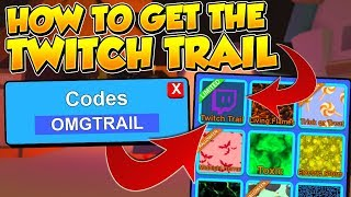 HOW TO GET THE TWITCH TRAIL AND CODES IN ROBLOX MINING SIMULATOR! *GIVEAWAYS*