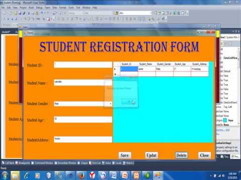 student registration project in vb2010 and SQL2008 SIU