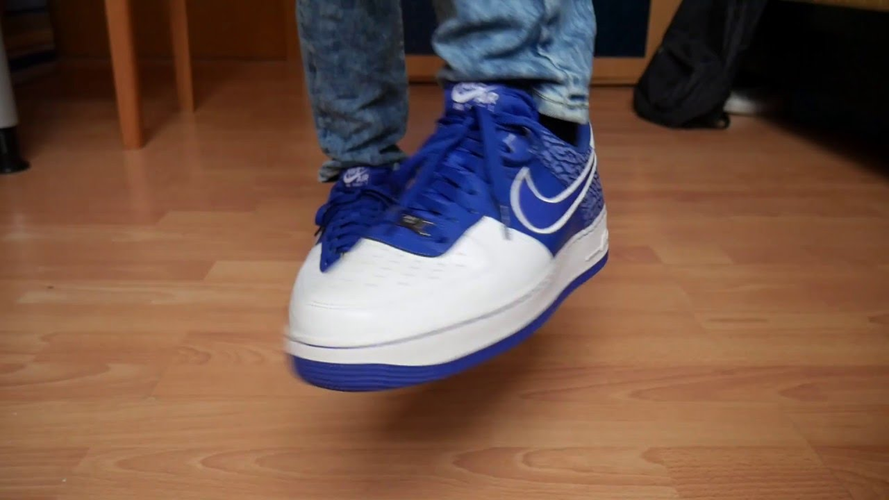 low priced 2cd32 cc9a6 Nike Air Force 1 Low HYPER BLUE WHITE - On Feet