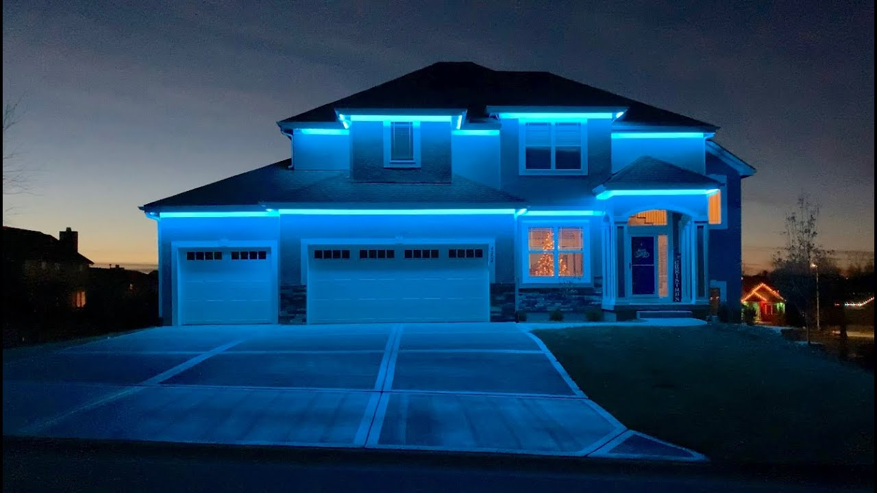 project complete led strip christmas holiday and accent lights high voltage 110 120v rgb