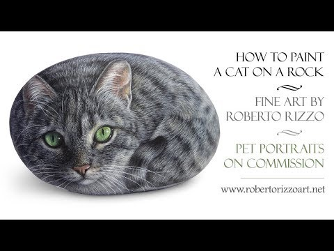 205ccad3fb57 How to Paint a Cat on a Rock with Acrylics | Portrait of Nyla - YouTube