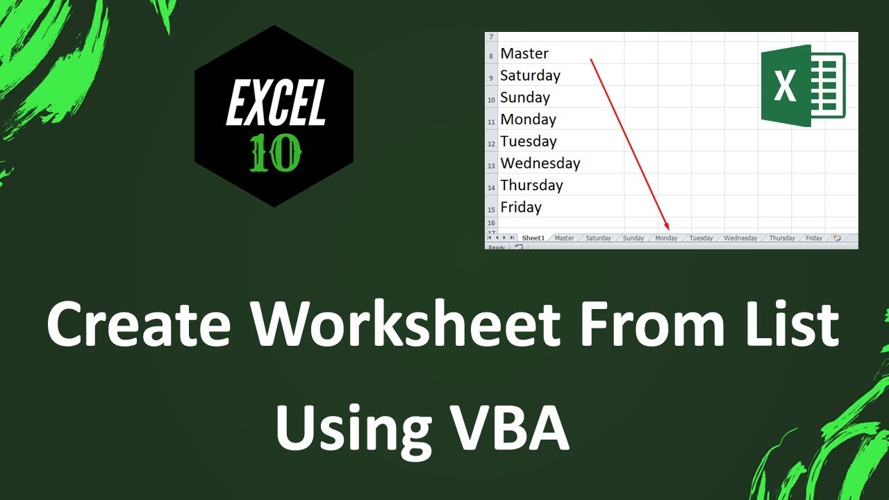 How To Create New Sheet From A List In Excel YouTube – Excel Vba Create New Worksheet