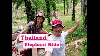 Тайланд Пхукет Парк Као Сок Катание на слонах Thailand Phuket Khao Sok Park Elephant Riding